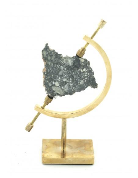 Météorite lunaire, tranche de la lune, lunar meteorite slice