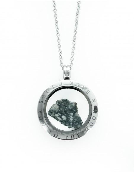 Véritable fragment de la Lune dans un médaillon coffret
