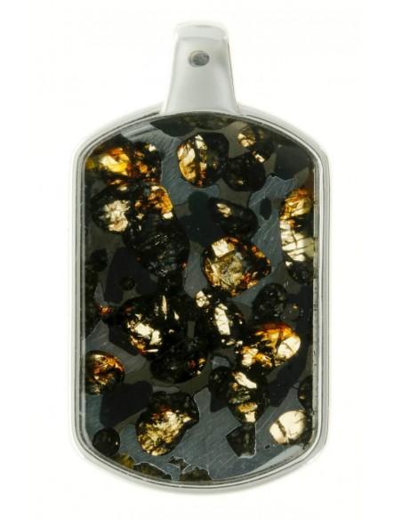 Pendentif en météorite pallasite