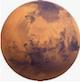 Planète Mars météorite